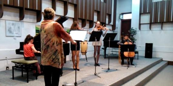 Vendulka Mikulová hraje s komorním kvartetem